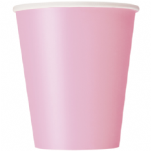 Lovely Pink Paper Cups 9oz (270ml) (14pcs)